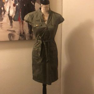 Awesome army green H&M cargo style dress size 6